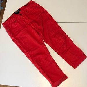 Lucky Brand Cropped Charlie Jeans Red 6 / 28